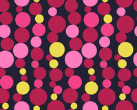 Seamless pattern with circles. Pink and yellow seamless pattern with circles Stock Photography