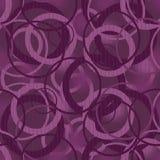 Seamless pattern with circles on purple Stock Photo