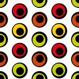 Seamless  pattern of  circles in retro style. Stock Images