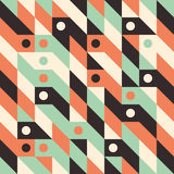 Seamless pattern with circles and rhombuses. Royalty Free Stock Image
