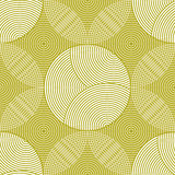 Seamless pattern of circles and rings in green and white colors Royalty Free Stock Image