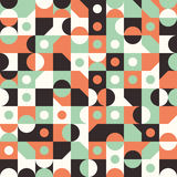 Seamless pattern with circles and semicircles. Stock Images