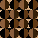 Seamless pattern of circles and squares in coffee colors Royalty Free Stock Images