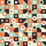 Seamless pattern with circles in squares. Stock Photography
