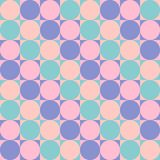 Seamless pattern - circles in squares. stock illustration