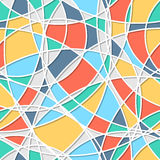 Seamless pattern of circles. Trendy  texture. Endless stylish backdrop. Colorful lines and shapes. Royalty Free Stock Image