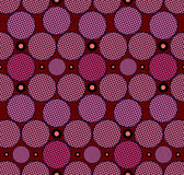 Seamless  Pattern with circles. Vector seamless  pattern with  circle and dark red background Stock Photo