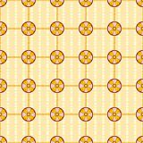 Seamless  Pattern with circles. Vector seamless  pattern with  circle and yellow background Royalty Free Stock Images