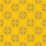 Seamless  Pattern with circles. Vector seamless  pattern with circle and yellow background Stock Photography