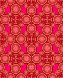 Seamless  Pattern with circles. Vector seamless  pattern with red circle and pink background Royalty Free Stock Photo