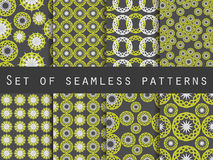 Seamless pattern with circles and weaves. Set of ethnic patterns. Stock Image