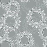 Seamless pattern with circular floral ornaments Stock Photography