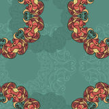 Seamless pattern with circular ornaments like a snowflakes Royalty Free Stock Photos