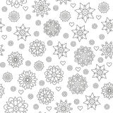Seamless pattern of circular ornaments mandalas on a white Royalty Free Stock Image