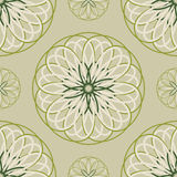 Seamless pattern from the circular repeating elements. Royalty Free Stock Photography