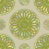 Seamless pattern from the circular repeating mosaic elements. Stock Photography