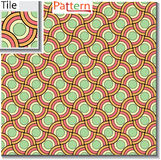 Seamless pattern of circular rings or disks which are overlapped Royalty Free Stock Photo