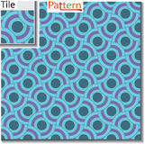 Seamless pattern of circular rings or disks which are overlapped Stock Image