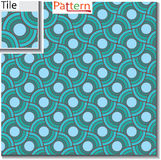 Seamless pattern of circular rings or disks which are overlapped Stock Photography