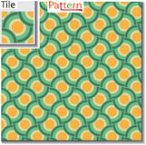 Seamless pattern of circular rings or disks which are overlapped Stock Images