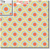 Seamless pattern of circular rings or disks which are overlapped Stock Photo