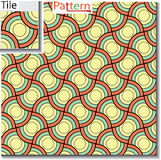 Seamless pattern of circular rings or disks which are overlapped Royalty Free Stock Photos