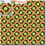 Seamless pattern of circular rings or disks which are overlapped Royalty Free Stock Images