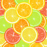 Seamless pattern with citric slices Stock Photo
