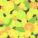 Seamless pattern with citrus Stock Photo