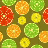 Seamless pattern with citrus mix Royalty Free Stock Photo