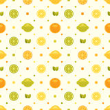 Seamless Pattern with citruses Stock Photo