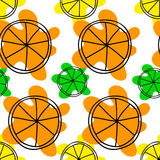 Seamless pattern with citruses Stock Photography