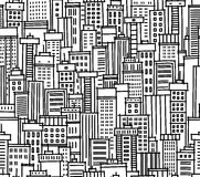 Seamless pattern of city Royalty Free Stock Photos