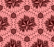 Seamless pattern of claret red lace Stock Photography