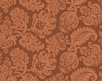 Seamless pattern of classic wallpaper. A classic computer generated vector wallpaper pattern Royalty Free Stock Image