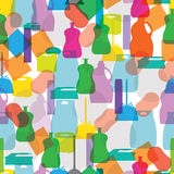 Seamless pattern of cleaning Royalty Free Stock Images
