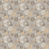 Seamless pattern with clocks and cog wheels Royalty Free Stock Image