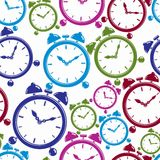 Seamless pattern with clocks, wake up idea. Simple timers, class Royalty Free Stock Photos