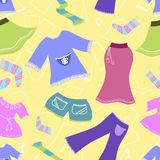 Seamless pattern clothes. Vector background Royalty Free Stock Photography