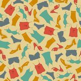 Seamless pattern, clothes woman Royalty Free Stock Photo