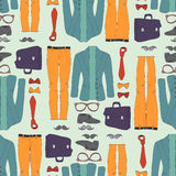 Seamless pattern with clothing Stock Photo