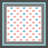 Seamless pattern, cloud art background design for fabric Stock Image