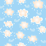 Seamless pattern with clouds Stock Image