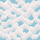 Seamless pattern. Clouds. Autumn. Pastel colors. Vintage style. Stock Photos