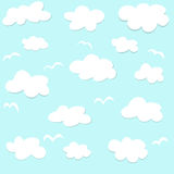 Seamless pattern with clouds Royalty Free Stock Photo