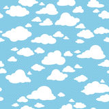 Seamless pattern with clouds Royalty Free Stock Image