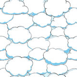 Seamless pattern of clouds on blue sky Royalty Free Stock Image