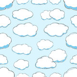 Seamless pattern of clouds on blue sky Stock Photo