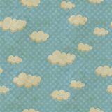 Seamless pattern with clouds Stock Photos