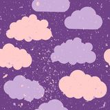 Seamless pattern with clouds and paint splash. vector illustration